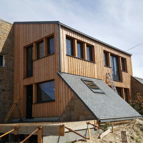 Création d'une extension bois à Tregastel